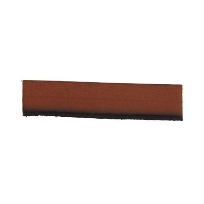 Leather Orange-Brown Flat Strip 10X2mm