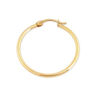 15mm Gold Filled Tube Hoop Earring W/snap