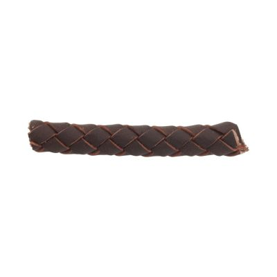 Braided Leather Dark Brown cord 6mm