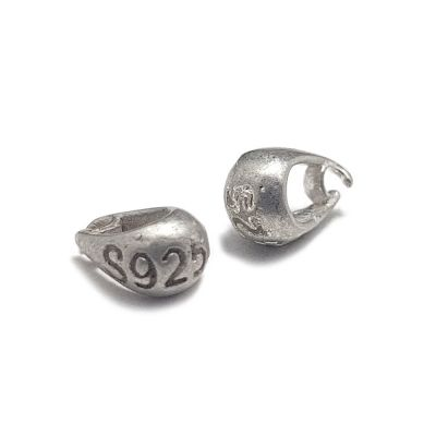 Sterling 925 Silver 7.5 x 2.5mm Bail