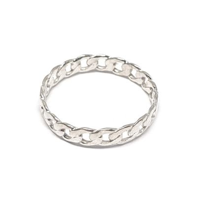 Sterling Silver Links Fashion Ring 15.5mm/ Size 5.5