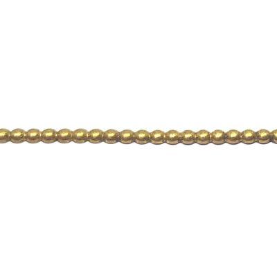 Brass Half Round Beaded Wire 1.5mm