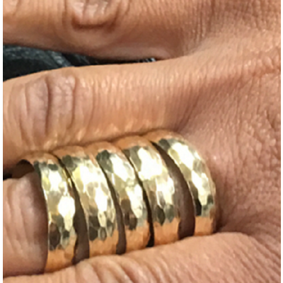 Gold Filled Gallery Strip Fashion Ring