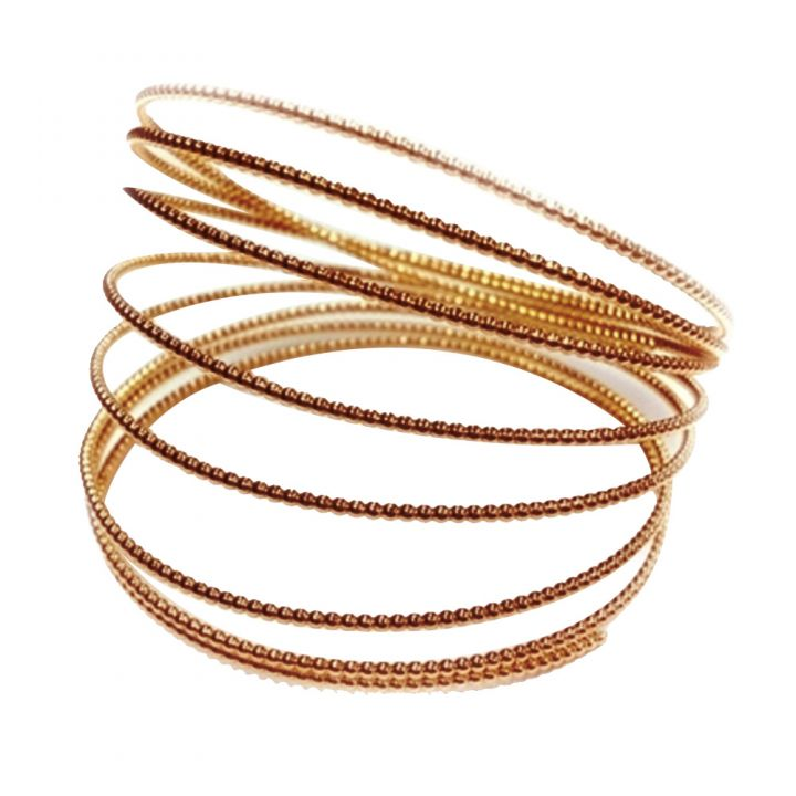 Gold Filled Rose Beaded Wire 1.5mm